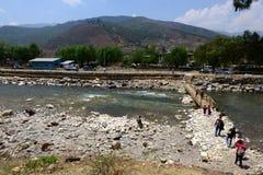 Paro City of Bhutan Royalty Free Stock Photography