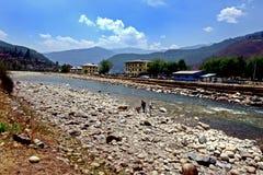 Paro City of Bhutan Royalty Free Stock Photos