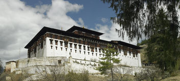 Paro Dzong in Bhutan Royalty-vrije Stock Foto's