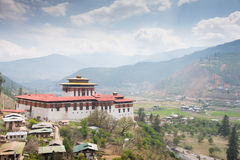 Paro Dzong in Bhutan Royalty Free Stock Photo