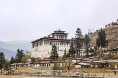 The Paro Dzong. Like all dzongs is partly a government building and for the other part a buddhist monastery Stock Image