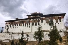 The Paro Dzong. Like all dzongs is partly a government building and for the other part a buddhist monastery Royalty Free Stock Photo