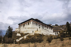 The Paro Dzong. Like all dzongs is partly a government building and for the other part a buddhist monastery Royalty Free Stock Photos
