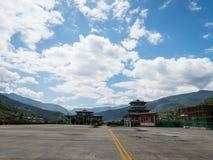 Paro flygplats i Bhutan Royaltyfri Bild