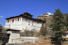Paro Rinpung Dzong Fotografie Stock