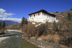 Paro Rinpung Dzong Royalty Free Stock Photo
