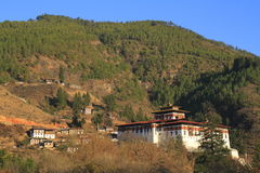 Paro Rinpung Dzong Royalty Free Stock Photos