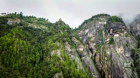 Paro Taktsang Tiger Nest au Bhutan Photo stock