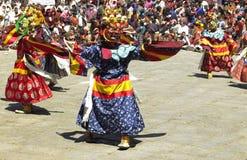 Paro Tsechu in Bhutan lizenzfreie stockfotografie