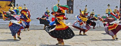 Paro Tsechu Festival Royalty Free Stock Photo