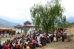 Paro Tsechu Festival Royalty Free Stock Photography