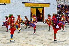 Paro Tsechu festiwal zdjęcia royalty free