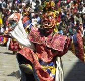Paro Tsechu - regno del Bhutan Fotografia Stock