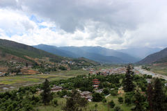 Paro Valley in Bhutan Royalty Free Stock Photography