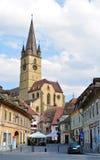 Parochial Evangelical Church. Sibiu city romania Parochial Evangelical Church landmark architecture Royalty Free Stock Image