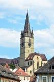 Parochial Evangelical Church. Sibiu city romania Parochial Evangelical Church landmark architecture Stock Image