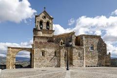 Parochiale Kirche von San Vicente Martir und von San Sebastián, Frias Burgos Lizenzfreie Stockfotografie