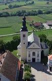 Parochiekerk van het Heilige Kruis in Zacretje, Kroatië royalty-vrije stock afbeeldingen