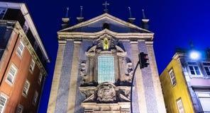 Parochiekerk van Sinterklaas-architectuurdetail royalty-vrije stock afbeelding