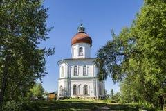 Parodia di ascensione del monastero di Solovetsky, fondata nel secolo XIX la montagna di Sekirnaya sull'isola di Bolshoy Solovets fotografia stock libera da diritti
