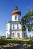 Parodia di ascensione del monastero di Solovetsky, fondata nel secolo XIX la montagna di Sekirnaya sull'isola di Bolshoy Solovets fotografia stock