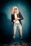 Parodia di metalli pesanti del rock star Fotografie Stock