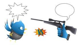 Parodia - rivali sociali della rete (uccello contro. Come) - w Immagine Stock Libera da Diritti
