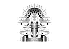 Parodie du trône de fer, jeu humoristique de vignette de thème de trônes Allégorie comique de bande dessinée Toilette ou carte de illustration stock