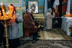 Paroissien ukrainien de l'église orthodoxe Image stock