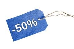 -50% parola Immagini Stock Libere da Diritti
