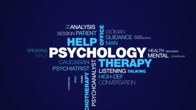 Parola animata professionale del terapista di psichiatria dello psicologo dell'ufficio di aiuto di terapia di psicologia di psico immagini stock