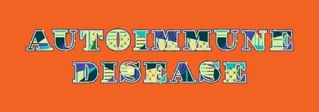 Parola Art Illustration di concetto di malattia autoimmune illustrazione vettoriale