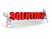 Parola bianca della SOLUZIONE di Carry Red della gente 3d Successo Concep di affari Immagine Stock Libera da Diritti