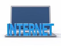 parola blu di Internet 3D Fotografie Stock Libere da Diritti