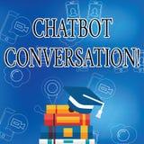 Parola che scrive conversazione di Chatbot del testo Concetto di affari per la chiacchierata con l'intelligenza artificiale di ai royalty illustrazione gratis