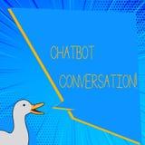 Parola che scrive conversazione di Chatbot del testo Concetto di affari per la chiacchierata con l'intelligenza artificiale di ai illustrazione vettoriale