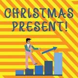 Parola che scrive il regalo di Natale del testo Concetto di affari per presentato come celebrazione arresa regalo di sorridere di illustrazione vettoriale