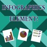 Parola che scrive l'elemento di Infographics del testo Concetto di affari per l'immagine visiva usata per rappresentare informazi illustrazione vettoriale