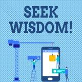 Parola che scrive saggezza di ricerca del testo Concetto di affari affinchè capacità pensino atto facendo uso del personale di co illustrazione di stock