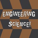 Parola che scrive scienza di ingegneria del testo Concetto di affari per l'affare con la base fisica e matematica di ingegneria illustrazione di stock