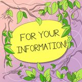 Parola che scrive For Your Information del testo E royalty illustrazione gratis