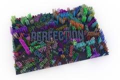 Parola chiave di perfezione Composizione astratta in forma, streptococco geometrico illustrazione vettoriale