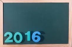 Parola Colourful 2016 al bordo nero come fondo Fotografia Stock