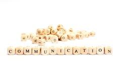 Parola con la comunicazione dei dadi Fotografia Stock