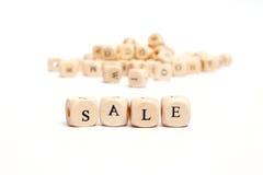 Parola con la vendita dei dadi Immagine Stock Libera da Diritti