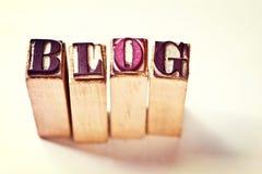 Parola del blog fotografia stock