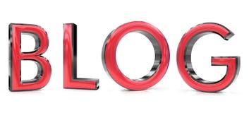 Parola del blog 3d Fotografie Stock
