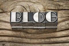 Parola del blog nel tipo del metallo Fotografia Stock Libera da Diritti