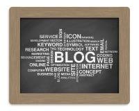 Parola del blog o nuvola dell'etichetta Fotografie Stock Libere da Diritti