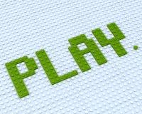 Parola del gioco di Lego Illustrazione di Stock